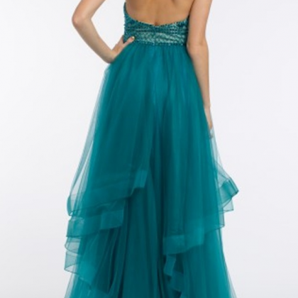 Charming Teal Tulle Prom Dress,Fair..