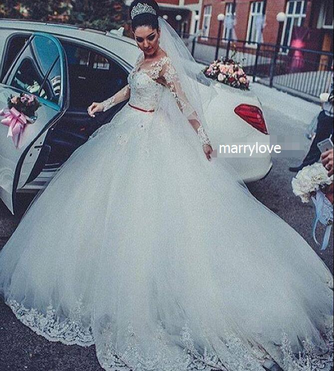 weddings Gorgeous Tulle lace bride wedding dress