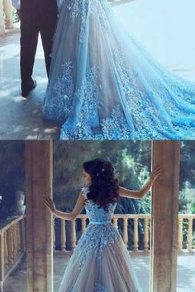 Sparkly Lace Wedding Dress,Appliques Mermaid Wedding Dresses,Sexy Long Prom Dresses
