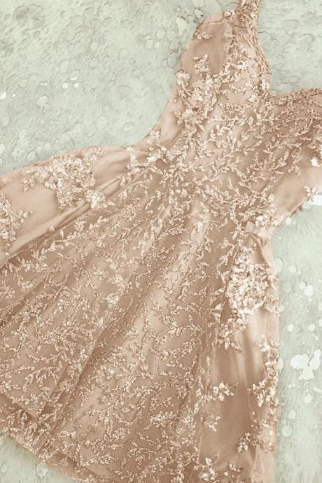 A-Line Homecoming Dresses,Spaghetti Straps Homecoming Dress,Champagne Homecoming Dresses,Short Prom Dressses,Short Homecoming Dress,Cute Homecoming Dress