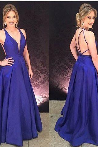 Charming Evening Dress,Dark Blue Evening Dresses,A Line Evening Party Dress,Long Prom Dress