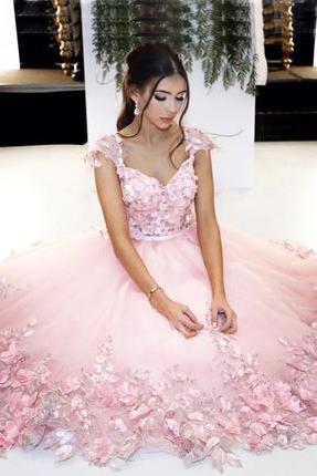 Charming Prom Dress, Sexy Prom Dress, Long Evening Dress,Tulle Formal Gown
