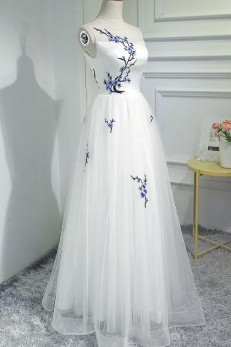 A Line Sleeveless Embroidery Homecoming Dresses Tulle Party Dresses Short Prom Dresses Cheap Cocktail Dresses Graduation Dresses