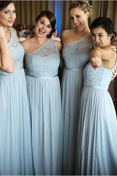 Sexy A-Line One Shoulder Light Blue Prom Dresses,Long Prom Dresses,Cheap Prom Dresses, Evening Dress Prom Gowns, Formal Women Dress