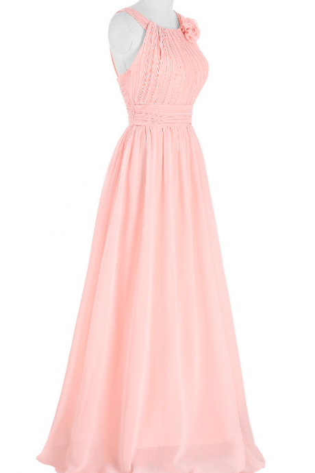 A beautiful dress with a rose silk gown and a formal marriage gown evening gown