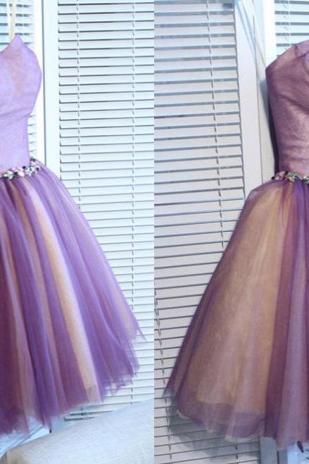 short homecoming dresses,A-line Sweetheart Short Mini Tulle Short Prom Dress Homecoming Dresses