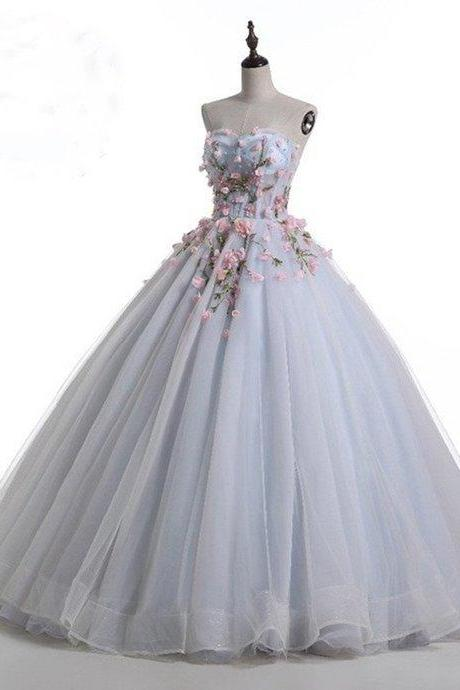 Floor-length Advanced Customization Lace Up Sweetheart Ball Gown,Dream Princess Wedding Party Dress