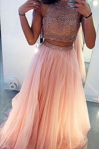 2 Piece High Neck Prom Dress,Beaded Prom Dress, Satin A-Line Prom Dress ,Long Prom Dress,Charming Prom Dress,Dress For Prom,Formal Dress 20162 Piece High Neck Prom Dress,Beaded Prom Dress, Tulle A-Line Prom Dress ,Long Prom Dress,Charming Prom Dress,Dress For Prom,Formal Dress 2016