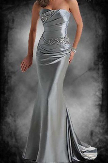 prom dresses party dresses evning dresses Bridesmaid Dresses Homecoming DressesWholesale - Real Image Fashion beaded empire waist strapless Evening Dresses party dresses Prom dresses