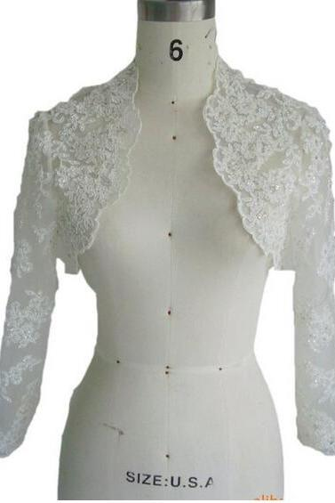 Crystal Dresses Women's Sleeve Length Lace Jacket