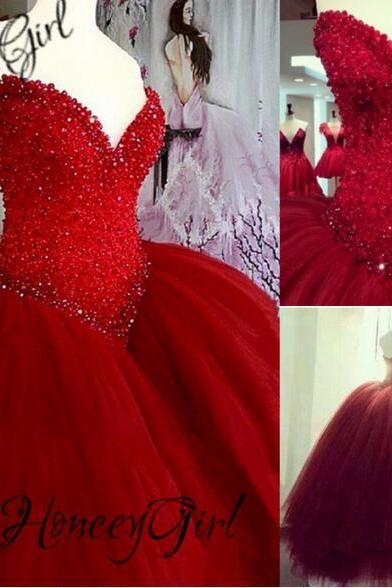 Weddings Wedding Dress,Ball Gown Wedding Dress,Red Wedding Dress,Luxury Wedding Dress,Crystal Wedding Dress,Sweetheart Wedding Dress,Beaded Wedding Dress,Long Wedding Dress,Gothic Wedding Dress,Unique Wedding Dress,Puffy Wedding Dress,Dress For Bride