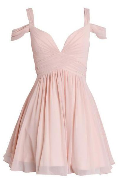 Elegant A-line Sweetheart Homecoming dress, Ruched Short Chiffon Bridesmaid Dress