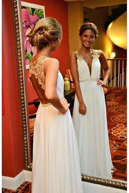 Charming Prom Dress,White Prom Dress,Long Prom Dress,Sexy Prom Dress,Evening Formal Gown
