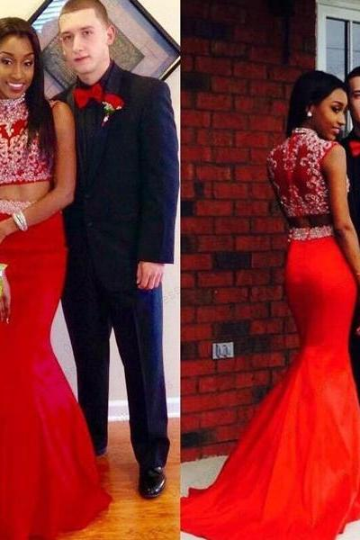 red prom dress ,two pieces prom dress ,mermaid prom dress ,evening prom dress ,party prom dress ,custom prom dress ,discount prom dress ,fashion prom dress