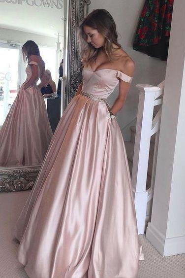 A-line Long Prom Gown, Teens Party Dress, Long Evening Dress, Senior Prom Dress