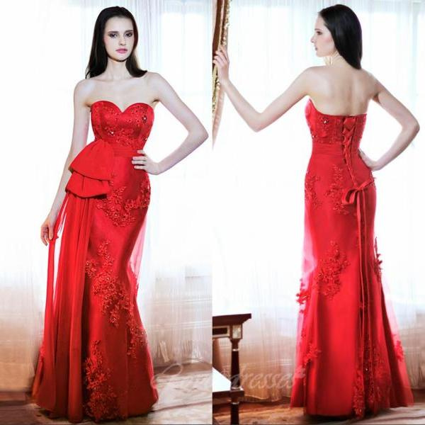 Red Prom Dresses,Tulle Prom Dresses,Sexy Prom Dresses,Sweetheart Prom Dresses,Discount Prom Dresses
