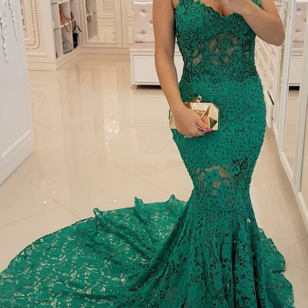 lace prom dresses, green prom dresses, mermaid prom dresses, sweetheart prom dresses, backless prom dresses, cheap prom dresses, lace evening dresses