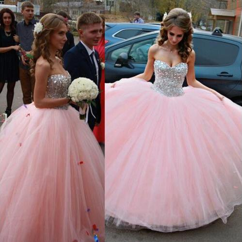Charming Prom Dress,Tulle Prom Dress,Sweetheart Prom Dress,Beading Prom Dress,Ball Gown